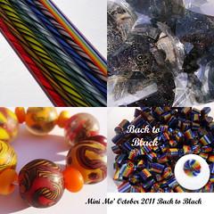 Back to Black (kitzbitz art glass by Jolene) Tags: shards twistie murrini jolenewolfe minimoclub