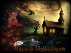 Freddy Krueger (alias Roy).......invites U ^^ (Roy Mildor) Tags: halloween ava misty scary concert avatar sl event secondlife horror freddy freddykrueger