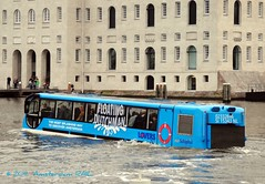 Coach afloat in Amsterdam (Amsterdam RAIL) Tags: bus amsterdam coach floating lovers autobus splashing scheepvaartmuseum touringcar stadsarchief oosterdok alltypesoftransport floatingdutchman