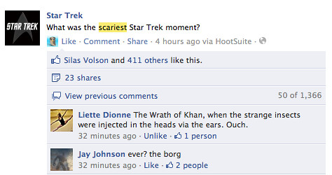 What Was The Scariet Star Trek Moment