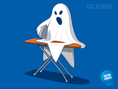Scorched (Glennz Tees) Tags: art nerd halloween fashion illustration design jones funny iron geek drawing glenn ghost humor cartoon culture tshirt pop glen adobe illustrator draw tee vector ai apparel ironing scorch glenz glennz gleenz glennnz