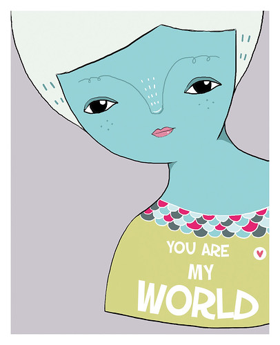 you are my world by Pinkrain Indie Design