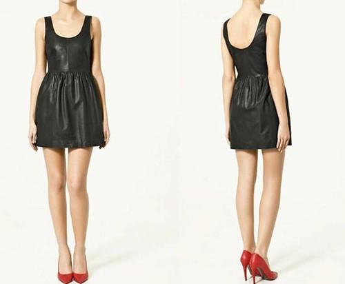 Vestido-piel-Zara-Primavera-Verano 2011