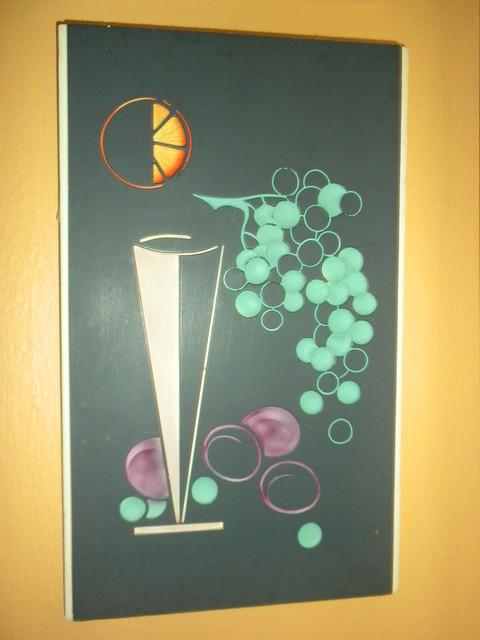 Vintage chalkware plaque 1