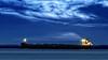 #850C5828- The boats in blue (Zoemies...) Tags: blue beach reflections boats slowshutter waters balikpapan melawai zoemies
