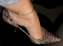 High arch and nice toe clevage in snakeskin pump (al_garcia) Tags: feet shoes toes long pumps sandals hard clogs mules smelly toenails toerings calloused