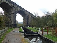 Viaduct and lock (jrw080578) Tags: trees canal lock viaduct saddleworth huddersfieldnarrowcanal
