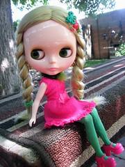 Pink and green Gwenhwyfar.
