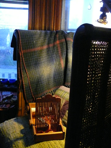 Reading chair and tape loom