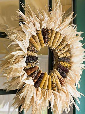thanksgiving wreath, corn wreath, thanksgiving