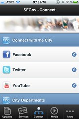 SF.gov iOS app: Connect