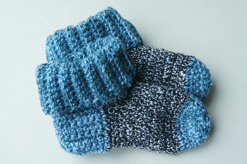 Crochet socks from handspun yarn