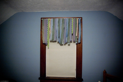 {how to} make a ribbon curtain, no sew!