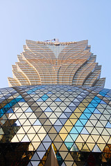 Grand Lisboa (marin.tomic) Tags: china city travel urban architecture modern skyscraper asian hotel nikon asia chinese casino structure highrise macau macao d40 grandlisboa