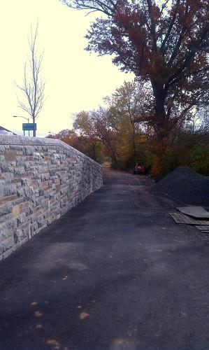 Trail to nowhere on VA side of Humpback Bridge