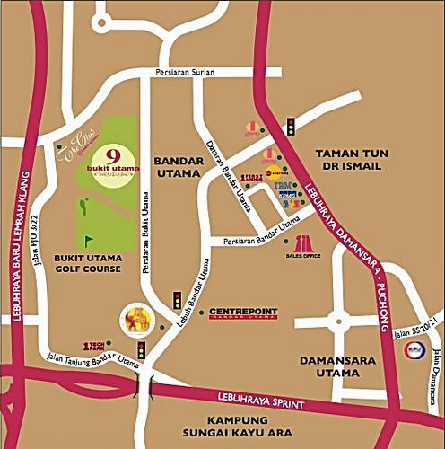 9 Bukit Utama - Map
