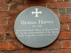 Photo of Thomas Harvey green plaque