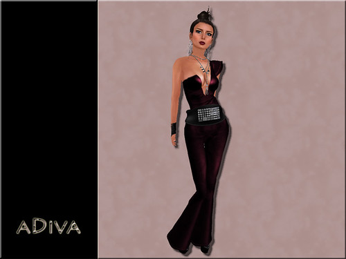 aDiva couture Lianne Leather Jumpsuit Blood