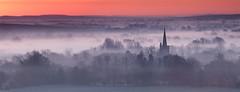 Pink Dawn (Chris Beard - Images) Tags: church landscape dawn wiltshire bishopscanning dawnsunrisemistmistybishopscanningschurch