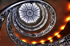 Vatican Staircase (riclane) Tags: italy vatican rome stairs skylight staircase