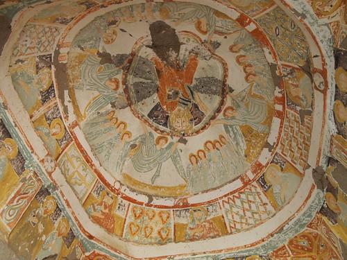 Ihlara Valley的教堂內的彩繪