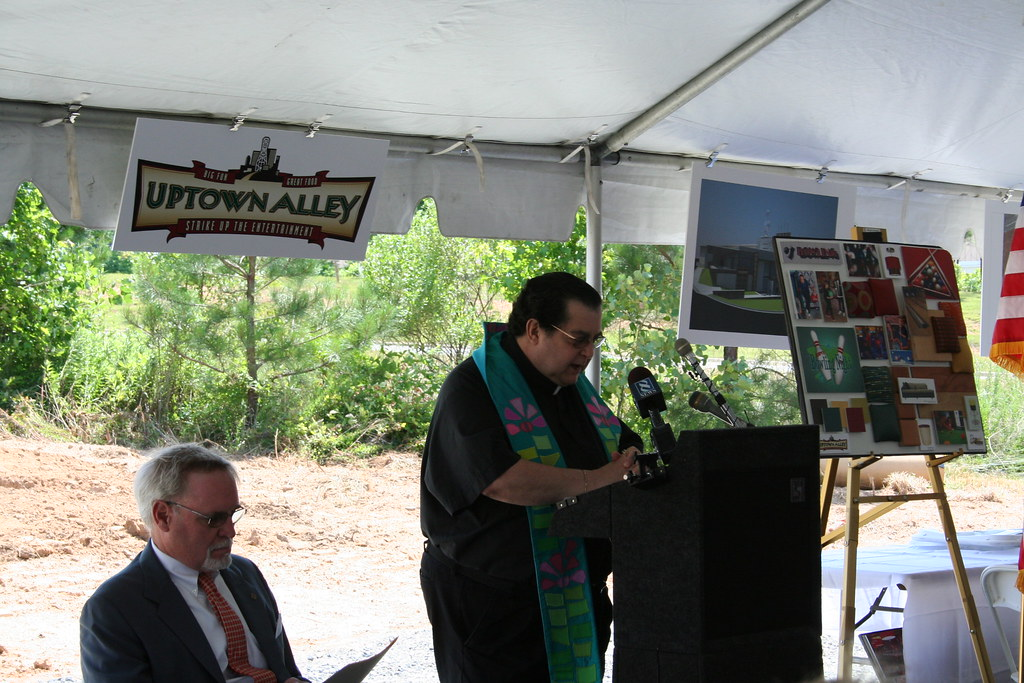 Father Pat Speaks at the Uptown Alley Groundbreaking Ceremony in Midlothian, VA on 6/14/11