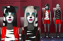 Werecat Twins Pic 1 (LadyKillerCat) Tags: sims lkc werecats monsterhigh
