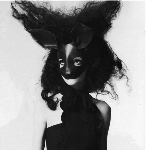 black rabbit mask, fashion, animals, runway, editorials, hair, bunny, Screen shot 2011-07-02 at 11.38.44 PM