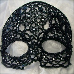 Tatted Sequins and Crystal Mask