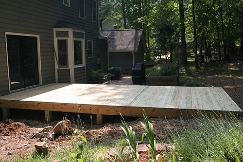 side view of the new deck floor