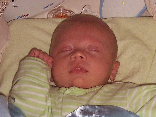 benson as a baby sleeping