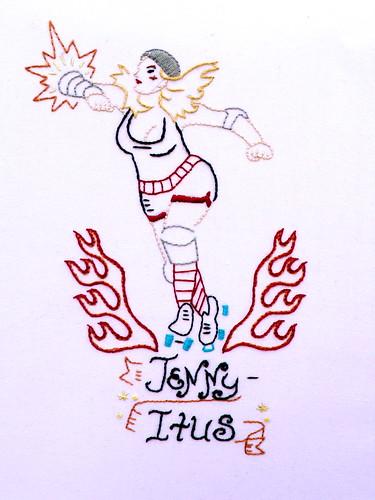 "Roller Derby Girl ""Jenny-Itus"""