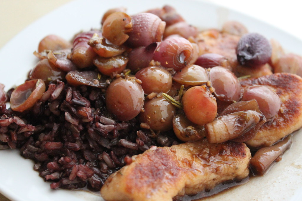 Four Step Chicken with Roasted Pearl Onions and Grapes on ...