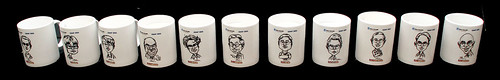 Caricatures printed on mugs for Fisher Scientific - 10