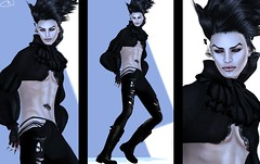 | number six | {Gothly} (Cade Nansen) Tags: shadow white man black fashion photoshop dark blog model modeling vanity secondlife raven tableauvivant lotd leezu hoorenbeek finesmith