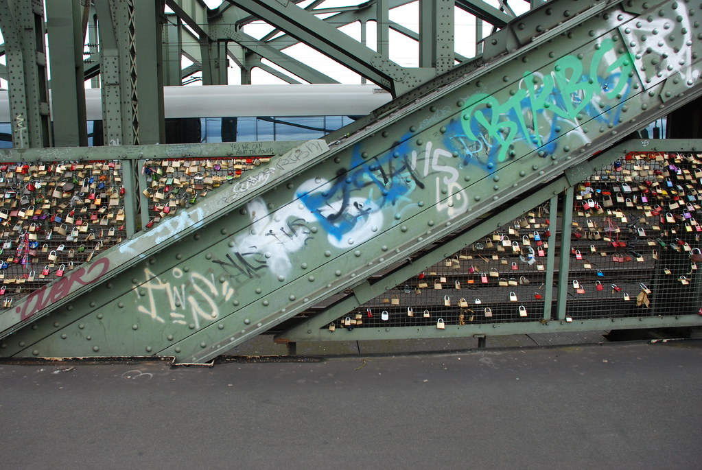 locks on the gate in Cologne, Germany
