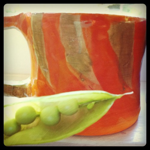 peas with pottery
