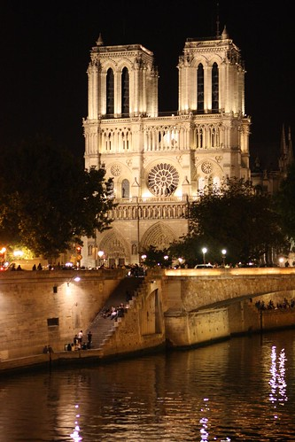 Notre Dame Illuminated Over the Seine