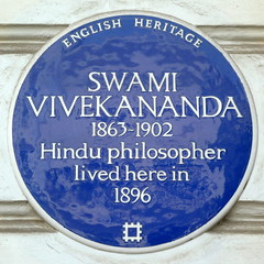 Photo of Swami Vivekananda blue plaque