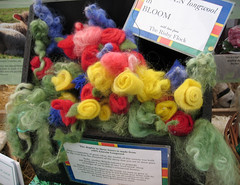 Felted flowers made from Lincoln Longwool fleece (flyhoof) Tags: show county uk flowers england white wool face animals felted rural standing pen coast fly long sheep display native britain farm united traditional farming flock norfolk royal kingdom competition felt lincolnshire east curly lincoln bloom british inside horn pens tradition breed fleece hoof livestock showing rare dyed agricultural preparing anglia classes fibre feltmaking risby longwool skeffto flyhoof