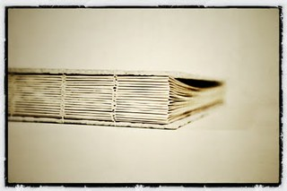 Wedding guest book spine