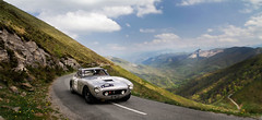 Postcard ([ JR ]) Tags: auto road old mountain classic nature car wheel sport canon court eos grey gris tour jr ferrari panoramic 64 exotic short 17 gto 28 chassis gt 50 tamron pau rare base biarritz 250 rallye pyrnes swb atlantique argento 2011 550d lissac