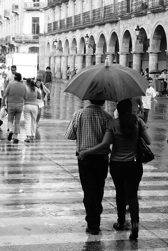 Tarde de lluvia en el centro