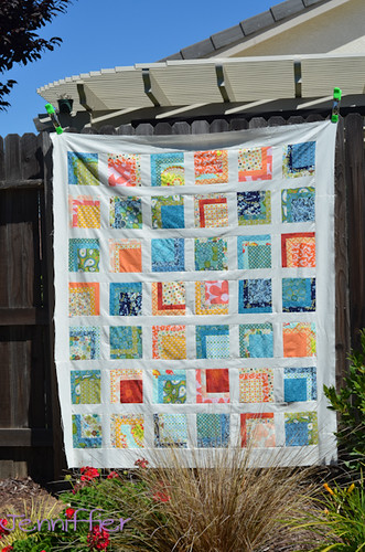 Blue and Orange Commissed quilt top
