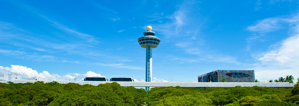 Changi Airport Singapore - The train, the tower and the hotel