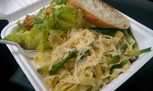 Fettuccine and Garlic Scapes