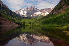 Reflections of Maroon Bells (Windows to Nature) Tags: summer reflection nikon colorado rockymountains aspen snowmass maroonbells highcountry maroonlake whiterivernationalforest omot d7000 windowstonature