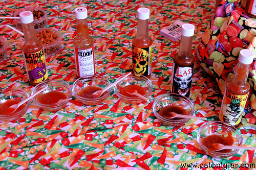 Selection of hot sauces