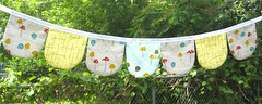 Bitty Bunting, Sprouts (weepereas) Tags: mushroom woodland photo handmade flag small nursery garland decor sprouts prop bunting bitty