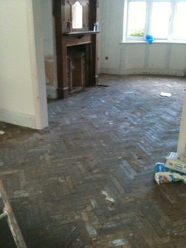 dining room floor (unsanded) by sashinka-uk